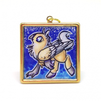 Palomino hippogryph pendant