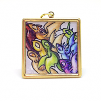 Flock of dragons pendant