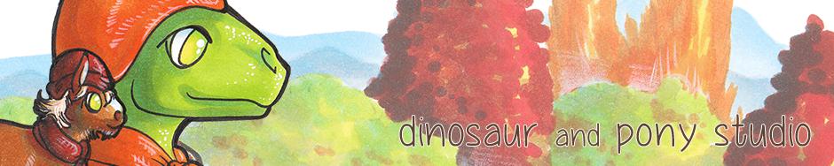 Dinosaur and Pony